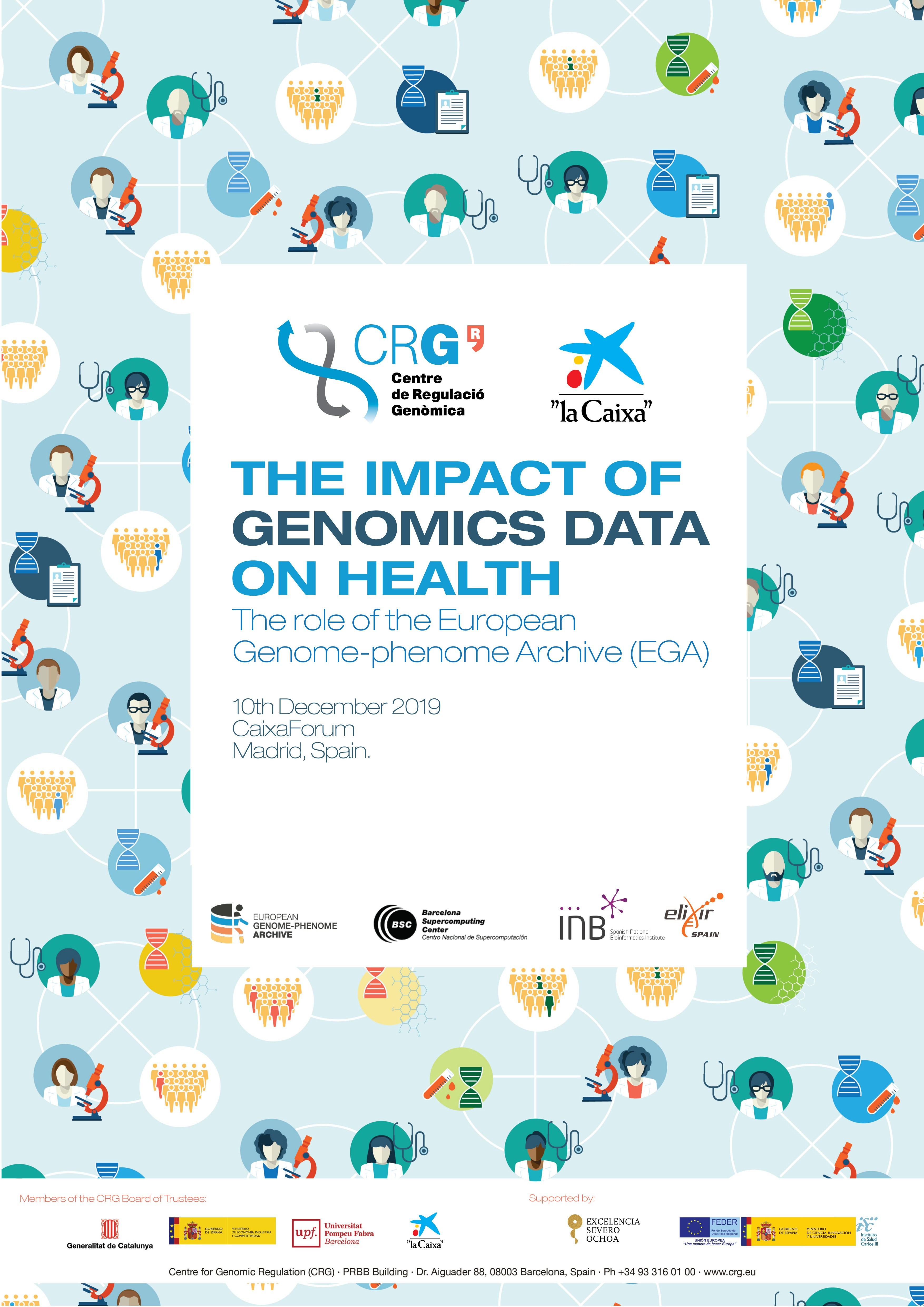"Poster ""THE IMPACT OF GENOMICS DATA ON HEALTH: The role of the European Genome-Phenome Archive (EGA)"""